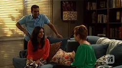 Ajay Kapoor, Priya Kapoor, Susan Kennedy in Neighbours Episode 6596