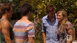 Kyle Canning, Chris Pappas, Scotty Boland, Georgia Brooks in Neighbours Episode 6598