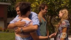 Scotty Boland, Chris Pappas, Kyle Canning, Georgia Brooks in Neighbours Episode 6598