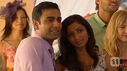 Ajay Kapoor, Priya Kapoor, Georgia Brooks in Neighbours Episode 6602