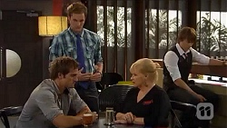 Kyle Canning, Andrew Robinson, Sheila Canning, Mason Turner in Neighbours Episode 6604