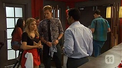 Natasha Williams, Andrew Robinson, Ajay Kapoor in Neighbours Episode 6607