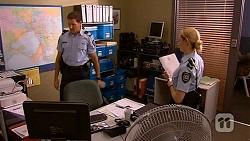 Matt Turner, Snr. Const. Kelly Merolli in Neighbours Episode 6608