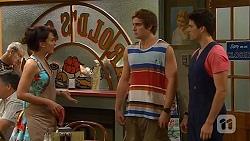 Vanessa Villante, Kyle Canning, Chris Pappas in Neighbours Episode 6611