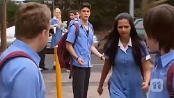 Callum Rebecchi, Alister O'Loughlin, Rani Kapoor, Bailey Turner in Neighbours Episode 6612