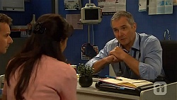 Lucas Fitzgerald, Vanessa Villante, Karl Kennedy in Neighbours Episode 6615