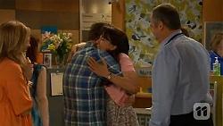 Sonya Rebecchi, Lucas Fitzgerald, Vanessa Villante, Karl Kennedy in Neighbours Episode 6615