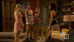 Amber Turner, Kyle Canning, Chris Pappas, Rhiannon Bates in Neighbours Episode 6619