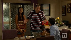 Rani Kapoor, Karl Kennedy, Ajay Kapoor in Neighbours Episode 6620