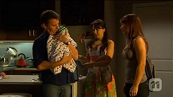 Lucas Fitzgerald, Patrick Villante, Vanessa Villante, Steph Scully in Neighbours Episode 6623