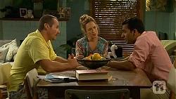 Toadie Rebecchi, Sonya Mitchell, Ajay Kapoor in Neighbours Episode 6624