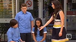 Bailey Turner, Callum Rebecchi, Rani Kapoor, Kate Ramsay in Neighbours Episode 6626