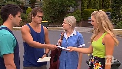 Chris Pappas, Kyle Canning, Amber Turner, Georgia Brooks in Neighbours Episode 6628