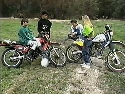 Cody Willis, Josh Anderson, Todd Landers, Melissa Jarrett in Neighbours Episode 1185
