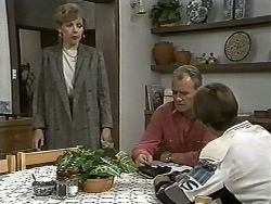 Beverly Marshall, Jim Robinson, Todd Landers in Neighbours Episode 1186