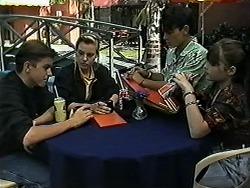 Todd Landers, Melissa Jarrett, Josh Anderson, Cody Willis in Neighbours Episode 1187