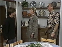 Todd Landers, Beverly Marshall, Jim Robinson in Neighbours Episode 1187