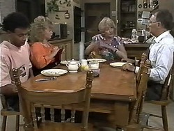 Eddie Buckingham, Sharon Davies, Madge Bishop, Harold Bishop in Neighbours Episode 1188