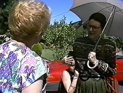 Madge Bishop, Lochy McLachlan, Dorothy Burke in Neighbours Episode 1188