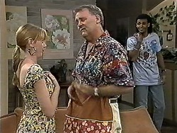 Melanie Pearson, Harold Bishop, Eddie Buckingham in Neighbours Episode 1189
