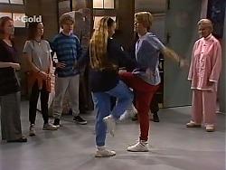 Ren Gottlieb, Cody Willis, Billy Kennedy, Libby Kennedy, Danni Stark, Helen Daniels in Neighbours Episode 2273