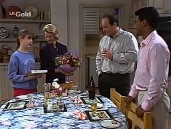 Hannah Martin, Helen Daniels, Philip Martin, Vikram Chatterji in Neighbours Episode 2275