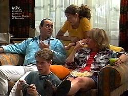Philip Martin, Lance Wilkinson, Hannah Martin, Ruth Wilkinson in Neighbours Episode 3036