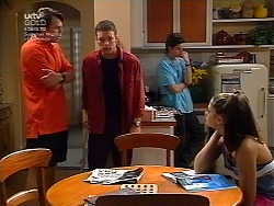 Geoff Burke, Ben Atkins, Nick Atkins, Sarah Beaumont in Neighbours Episode 3036