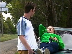 Josh Hughes, Caitlin Atkins in Neighbours Episode 3036