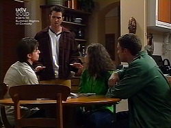 Nick Atkins, Josh Hughes, Caitlin Atkins, Ben Atkins in Neighbours Episode 3037
