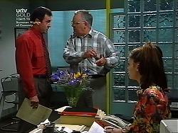Karl Kennedy, Harold Bishop, Sarah Beaumont in Neighbours Episode 3038