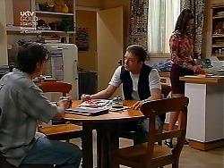 Nick Atkins, Ben Atkins, Sarah Beaumont in Neighbours Episode 3038