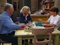 Harold Bishop, Madge Bishop, Paul McClain in Neighbours Episode 3099