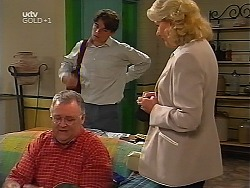 Harold Bishop, Paul McClain, Madge Bishop in Neighbours Episode 3099