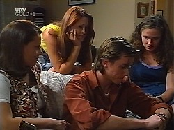 Jacquie Boyd, Sarah Beaumont, Nick Atkins, Caitlin Atkins in Neighbours Episode 3100
