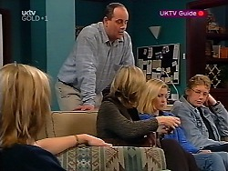 Ruth Wilkinson, Philip Martin, Josie Greenwood, Amy Greenwood, Patrick Greenwood  in Neighbours Episode 3132