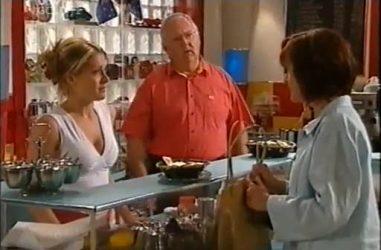 Izzy Hoyland, Harold Bishop, Susan Kennedy in Neighbours Episode 4460