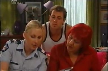 Sgt. Joanna Douglas, Stuart Parker, Angie Rebecchi in Neighbours Episode 4467
