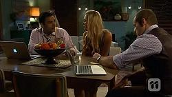 Ajay Kapoor, Georgia Brooks, Toadie Rebecchi in Neighbours Episode 6631