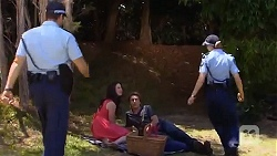 Kate Ramsay, Mason Turner, Snr. Const. Kelly Merolli in Neighbours Episode 6634