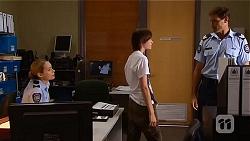Snr. Const. Kelly Merolli, Bailey Turner, Matt Turner in Neighbours Episode 6634