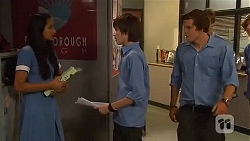 Rani Kapoor, Bailey Turner, Jayden Warley in Neighbours Episode 6636