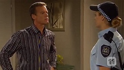 Paul Robinson, Snr. Const. Kelly Merolli in Neighbours Episode 6636