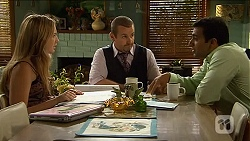 Sonya Rebecchi, Toadie Rebecchi, Ajay Kapoor in Neighbours Episode 6641