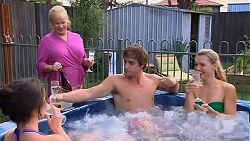 Kate Ramsay, Sheila Canning, Kyle Canning, Georgia Brooks in Neighbours Episode 6641