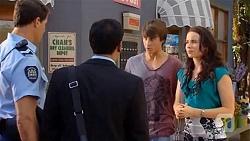 Matt Turner, Ajay Kapoor, Mason Turner, Kate Ramsay in Neighbours Episode 6644