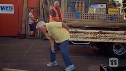 Chris Pappas, Lou Carpenter, Trev Barnett in Neighbours Episode 6649