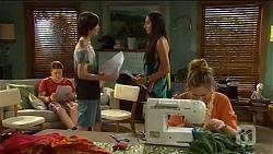 Callum Rebecchi, Bailey Turner, Rani Kapoor, Sonya Rebecchi in Neighbours Episode 6649