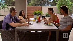 Toadie Rebecchi, Imogen Willis, Josh Willis, Brad Willis in Neighbours Episode 6650