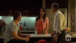 Lucas Fitzgerald, Vanessa Villante, Karl Kennedy in Neighbours Episode 6651